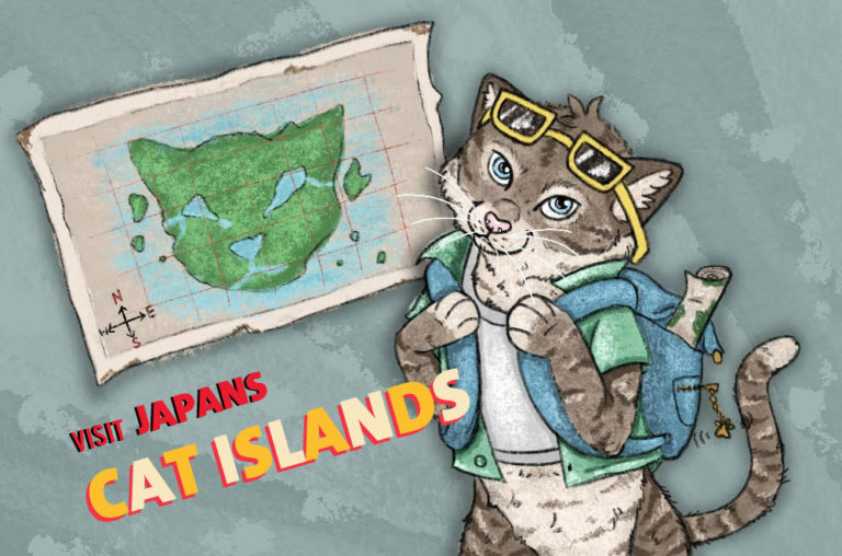Japans cat islands graphic